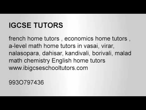 IGCSE HOME TUTORS JUHU MUMBAI