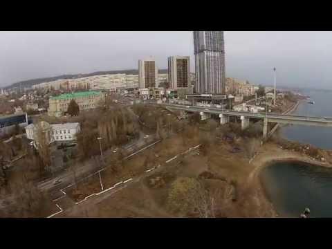 Полет над мостом Саратов - Энгельс 11.11.2014