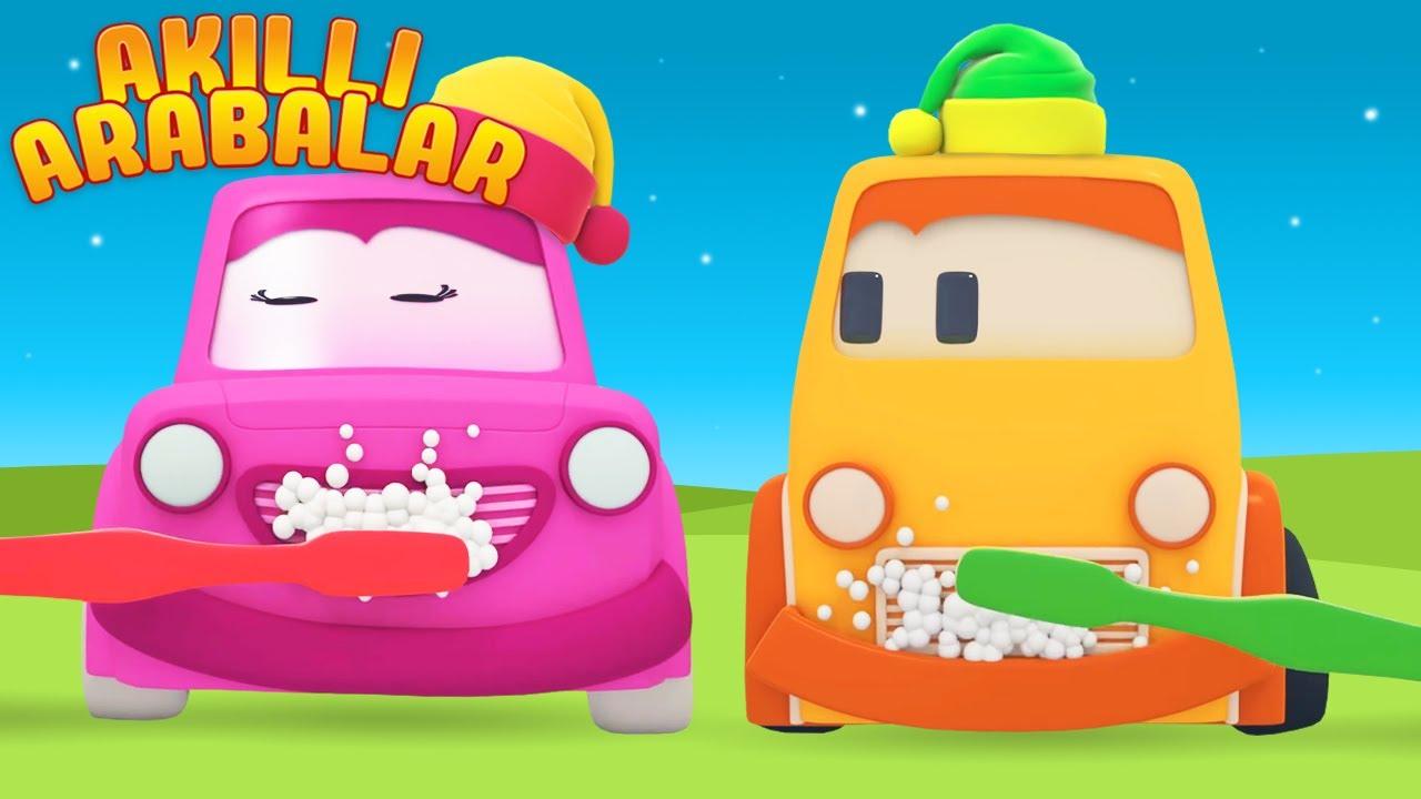 Çizgi film Akıllı arabalar ile dişlerini fırçalamaya öğren! Çocuklar için eğitici dizi
