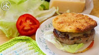 Keto Hamburger Buns (Cauliflower Buns) & Keto Pork Burgers | Headbanger's Kitchen