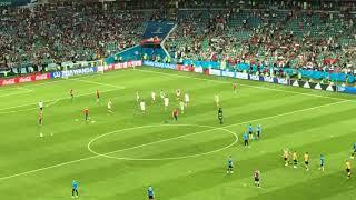 Россия Хорватия 07072018 чемпионат мира перед матчем караоке Калинка Малинка
