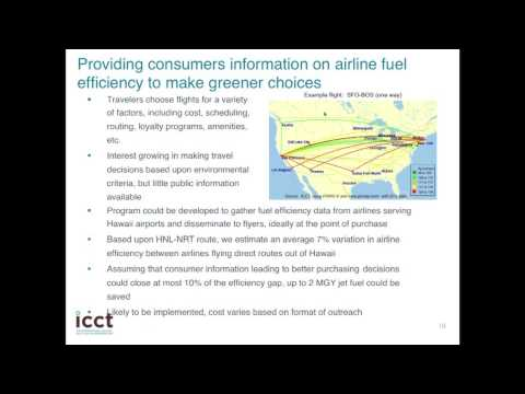 Hawaii Transportation Energy Analysis: Aviation Efficiency Options