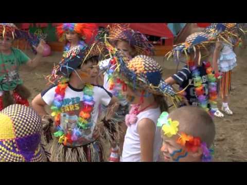 """""""Разноцветное лето"""" Детский праздник в детском саду."""