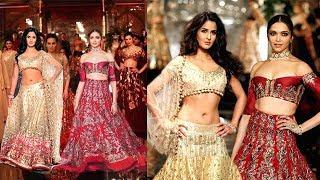 Deepika Padukone  Katrina Kaif Togethr On Ramp As A Showstopper For Manish Malhotras Bridal Wear