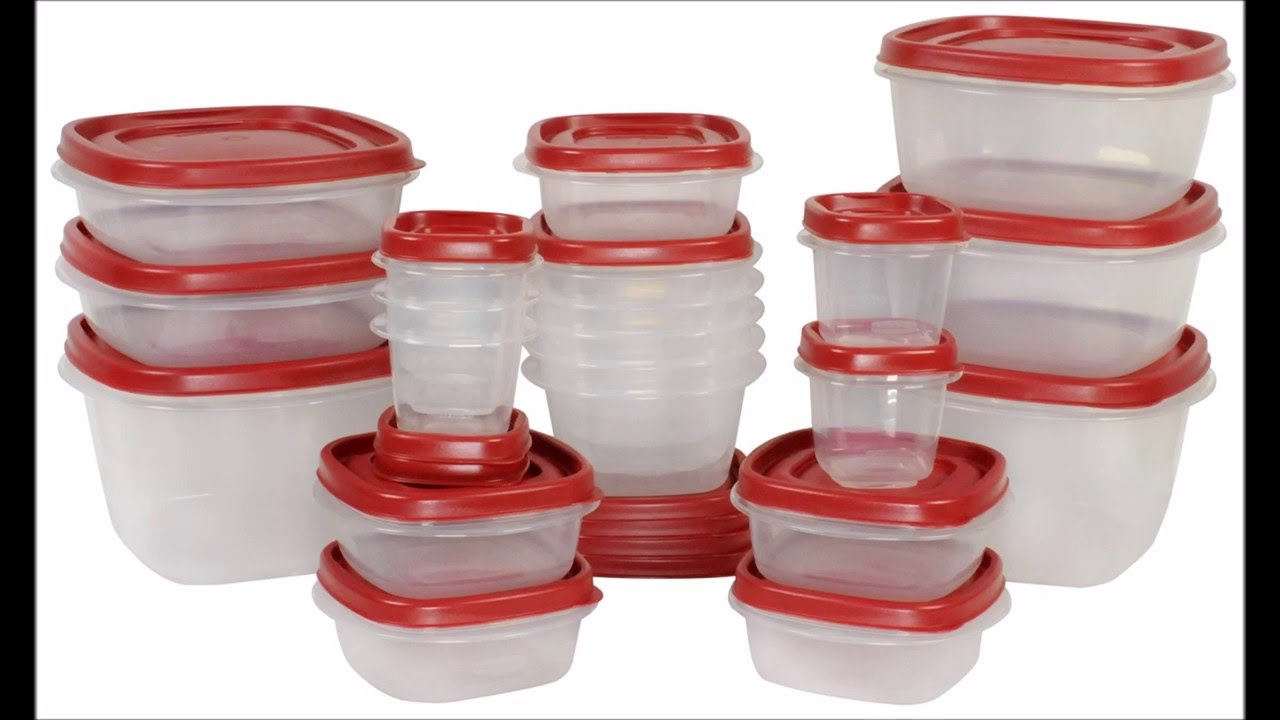 rubbermaid easy find lid food storage container - youtube