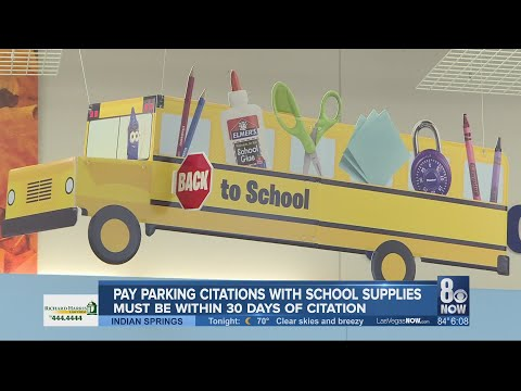 JT Bosch - Las Vegas Is Allowing Parking Tickets To Be Paid With School Supplies