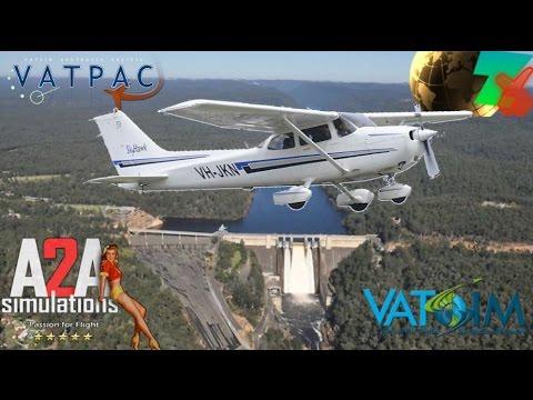 A2A Cessna C172 (FSX) OZx Bankstown to Cessnock via Warragamba Dam on Vatsim