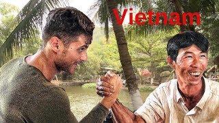 ARM WRESTLING, FISHING, SLINGSHOT (Tra Vinh, Vietnam) Câu Cá, Vật Tay, Bắn Nạng Ná