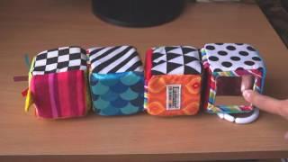 Детская игрушка развивающие кубики, фирма  Lamaze, обзор
