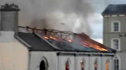 Blaze at old church of Artane Industrial School, Dublin. Part 2