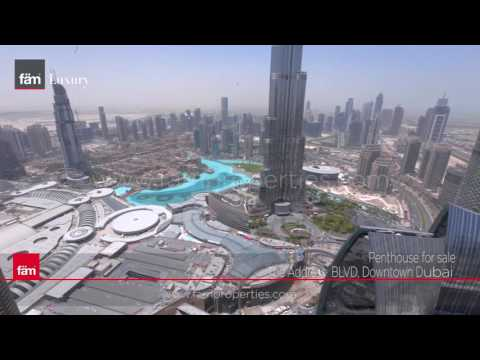 Luxurious 5 Bedroom Penthouse for Sale at The Address BLVD, Downtown Dubai