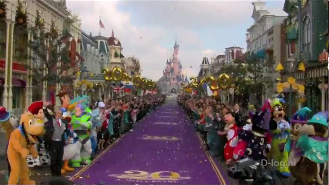 Disneyland Paris 20th Anniversary Opening Ceremony - YouTube