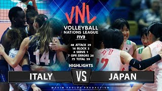 Italy vs Japan | Highlights | Women's VNL 2019