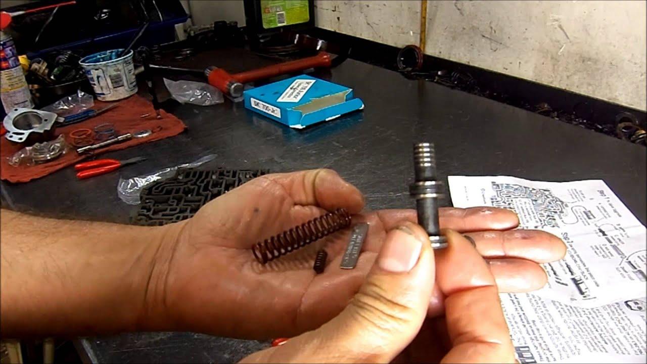 700r4 transmission valve body transmission repair transgo kit install [ 1280 x 720 Pixel ]