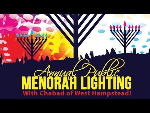 Public Menorah Lighting 5777 - Chabad NW6