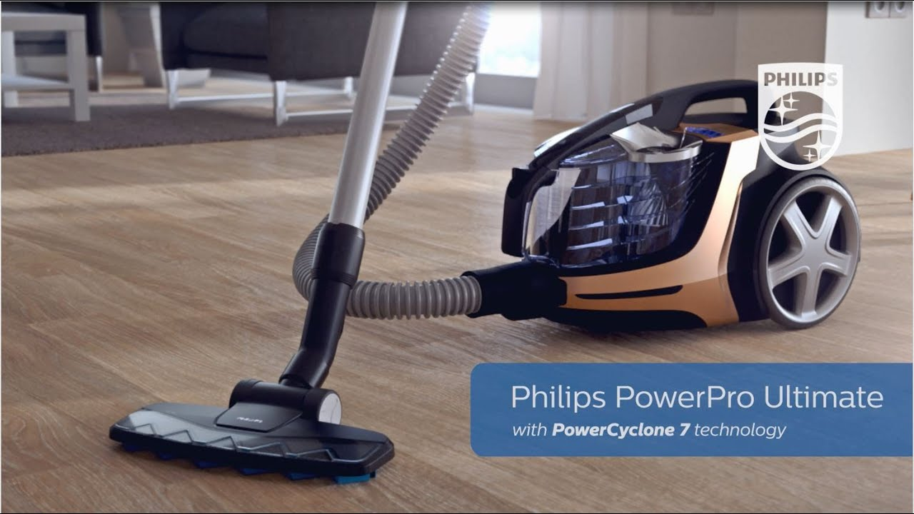 Ultimate Bagless Cylinder Vacuum Cleaner   Philips   FC9724   YouTube