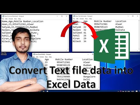 Importing and Exporting Data in .csv Files in Excel 2013 (Office 365) 17 of 18 from YouTube · Duration:  4 minutes 21 seconds