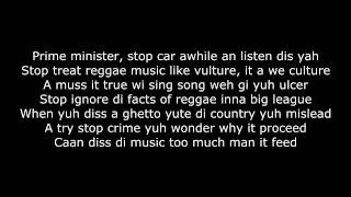 - ♠ - Anthony B - World a reggae music + Lyrics (HQ)