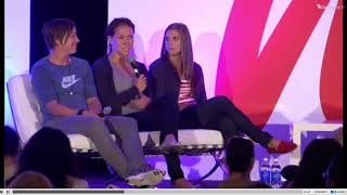 Alex Morgan, Abby Wambach, Lauren Holiday - espnW Summit 2011