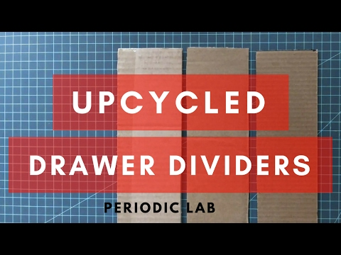 DIY | Drawer Organizer Dividers from Cardboard Boxes