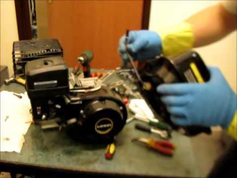Ремонт двигателя мотоблока , разборка для замены коленвала