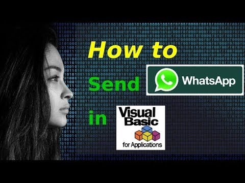 How to send WhatsApp messages in VBA / VB Script [Updated 2018]
