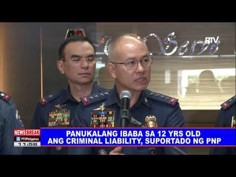 NEWS BREAK: Panukalang ibaba sa 12 yrs old ang criminal liability, suportado ng PNP