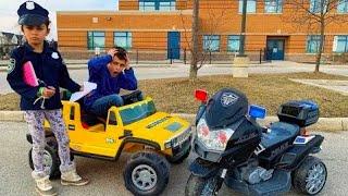 Heidi ضابط شرطة  سيارات حقيقية   Heidi & Zidane