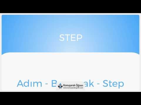 Step Nedir? Step İngilizce Türkçe Anlamı Ne Demek? Telaffuzu Nasıl Okunur? Çeviri Sözlük