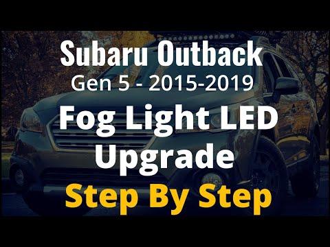Subaru Outback Fog Light Bulb Change / Upgrade - 2015, 2016, 2017