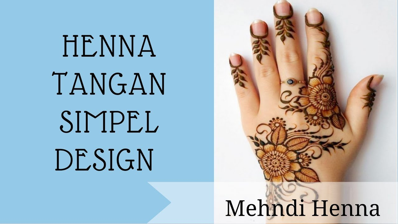 Henna Tangan Simpel Design 01 Youtube