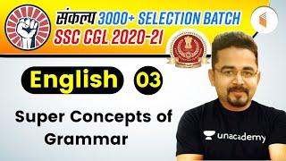 2:00 PM - SSC CGL 2020 -21   English by Sandeep Kesarwani   Concepts of Grammar