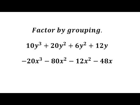 Factor by Grouping with GCF