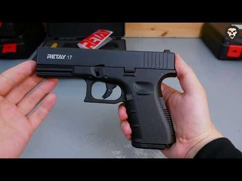 Охолощенный пистолет Retay 17 Glock Черный видео обзор