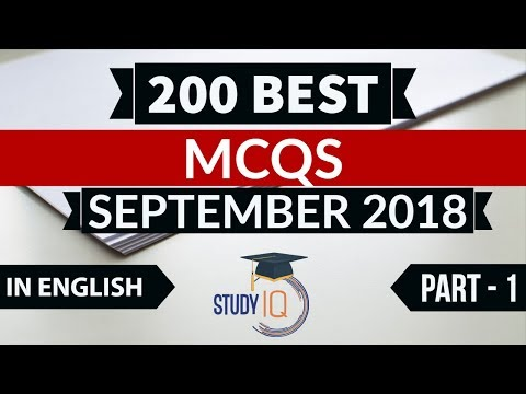 200 Best current affairs September 2018 in ENGLISH Set 1 - IBPS PO/SSC CGL/UPSC/IAS/RBI Grade B 2018