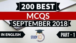 Download Video 200 Best current affairs September 2018 in ENGLISH Set 1 - IBPS PO/SSC CGL/UPSC/IAS/RBI Grade B 2018 MP3 3GP MP4