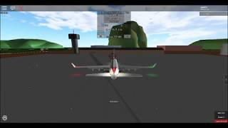 Roblox ein Ort mit Passagierflugzeugen Flug sere auf nasse Wiese