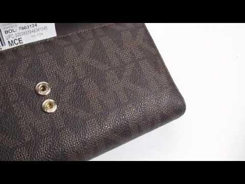 Michael Kors Jet Set Monogram Checkbook Wallet