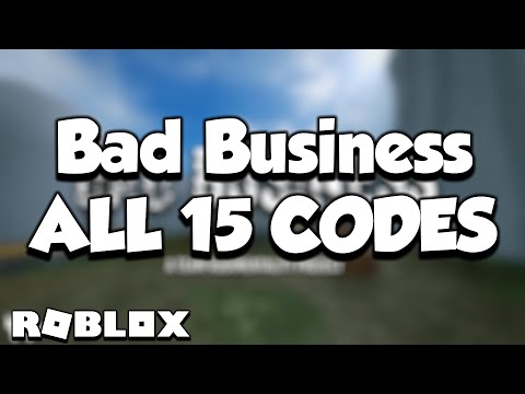 All 15 Bad Business Codes (Working!) Roblox