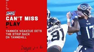 Yannick Ngakoue Gets The Strip Sack on Tannehill!