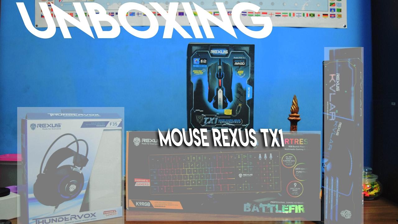 Unboxing Mouse Gaming Rexus Tx1 Pasvlog 6 G4