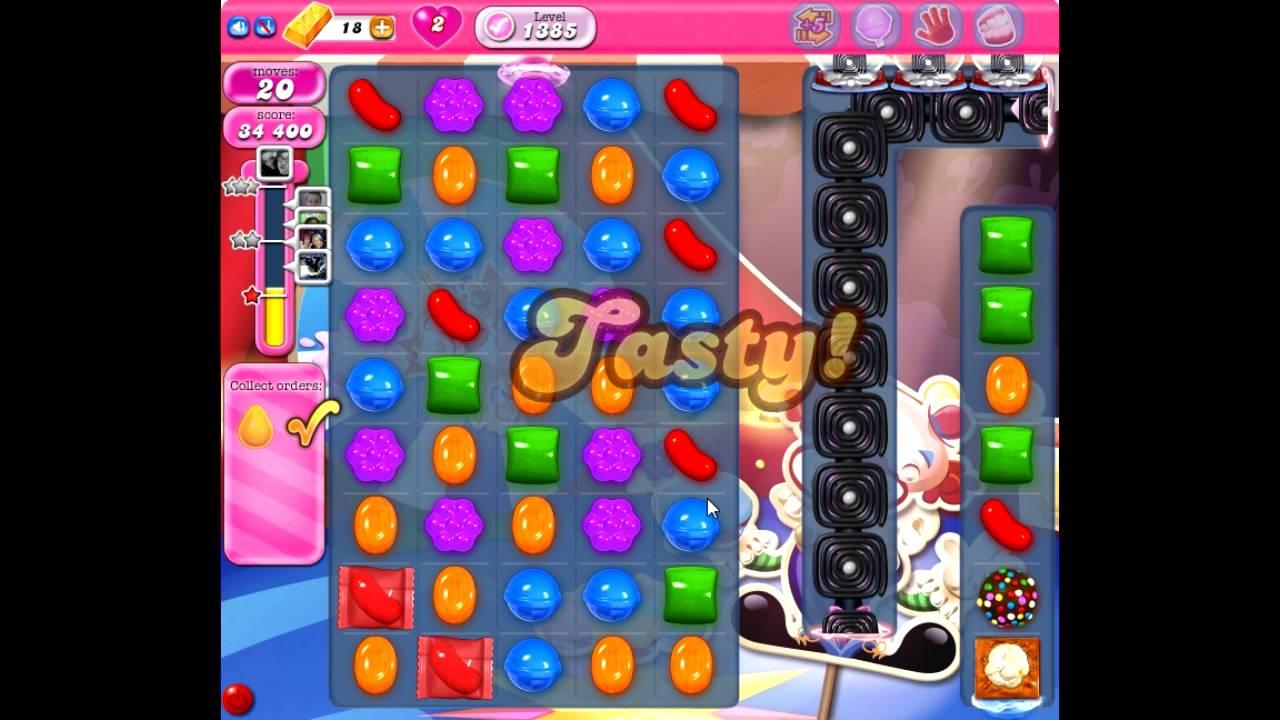 Candy Crush Saga level 1385 NO BOOSTERS HIGHSCORE - YouTube