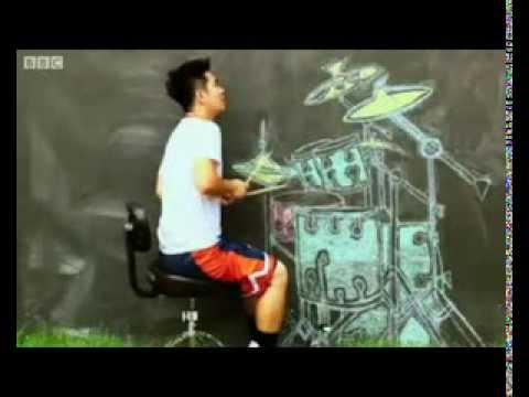 Thai music teacher finds fame in air drum video