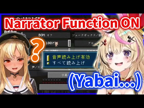 Polka accidentally turns on Narrator function and Paniks【Hololive/Eng sub】