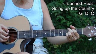 Easy - How to Play Going up the Country - Simple Songs to Play on Guitar for Beginners