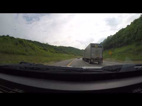 Time Lapse (6X):  Driving to Harrisburg, (PA Capital) late June 2016