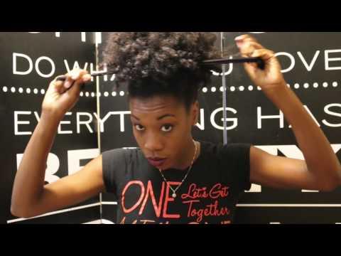 High Five Puff On 4C Hair