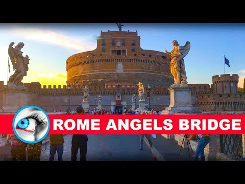 THE BRIDGE OF ANGELS & PONTE SANT' ANGELO - ROME ITALY - 4K 2017 - TRAVEL GUIDE