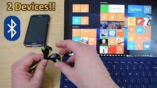 How to Pair Bluetooth Headphones to Smartphone and PC or Tablet at the Same Time!
