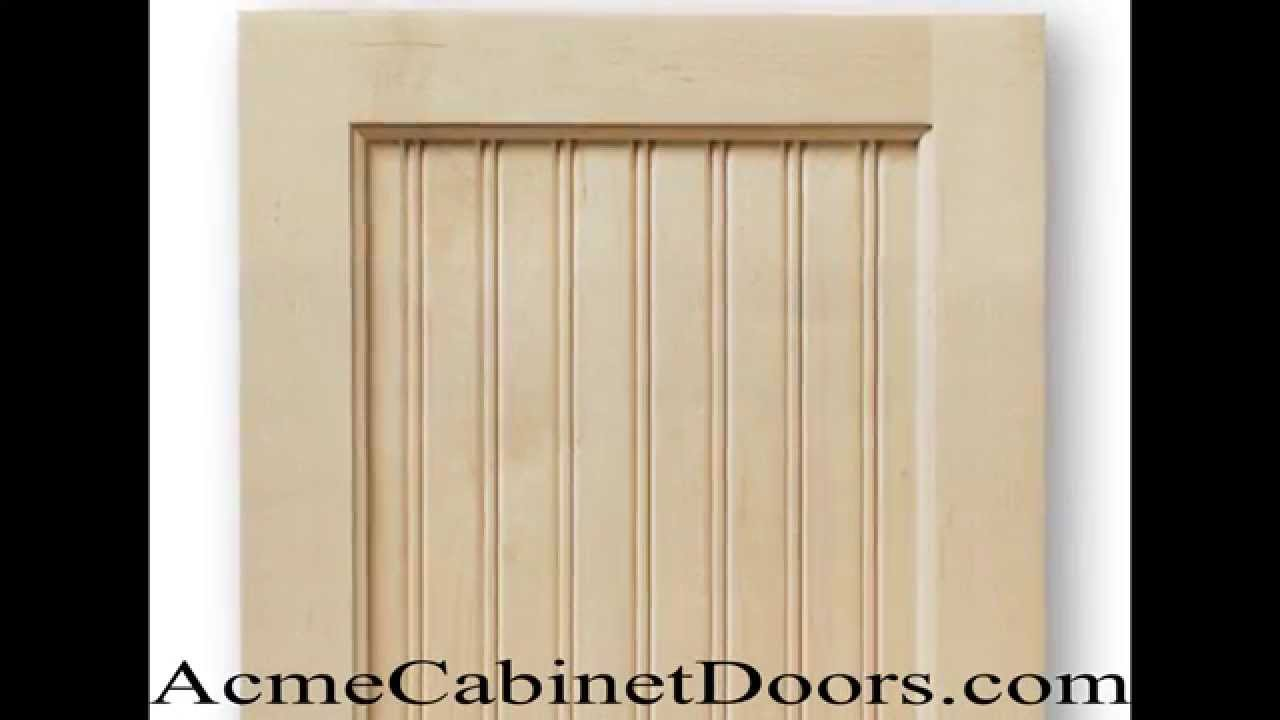 Unfinished Maple Beadboard Cabinet Door - YouTube
